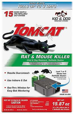 Rat Trap Mouse Bait Station Cage Refillable Best Outdoor/Indoor Heavy Duty