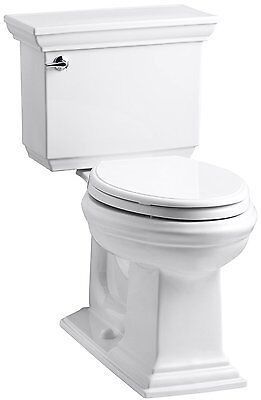 Kohler K-3819-0 Comfort Height Two-Piece Elongated Toilet Bowl 1.6 GPF White