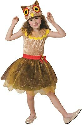 Girls Hooty Owl Animal Nature Bird World Book Day Fancy Dress Costume - Owl Costumes For Girls