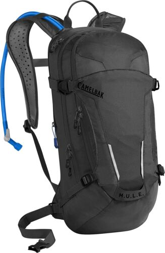 CamelBak MULE 100 oz/3L Cycling Hiking Hydration Backpack Black Solid M.U.L.E