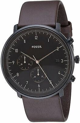 Fossil FS5485 Men's Chase Timer Chronograph 42mm Black Tone Steel Watch