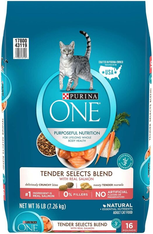 Purina ONE Tender Selects Blend Adult Dry Cat Food 16 lb. BAG