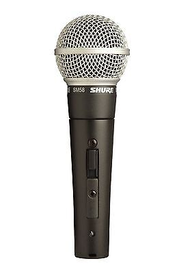Shure SM58S Dynamic Vocal Microphone with On/Off Switch - New w/ Clip & Pouch
