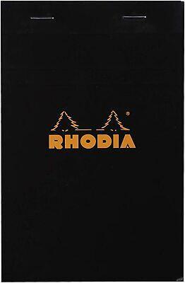 Rhodia N 16 - 6 X 8 14 Staplebound Notepad Black Graph