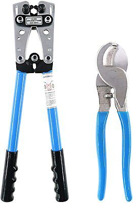 Battery Cable Lug Crimping Tool Ratchets Dutys Wire Lugs Crimper With Cable Cutt