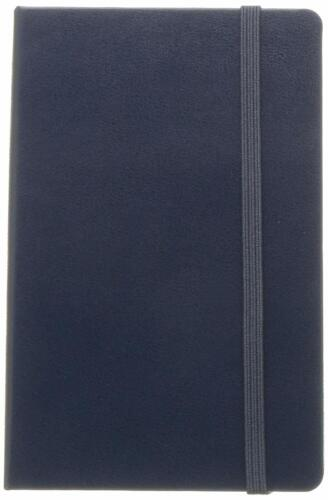 """Moleskine Classic Notebook, Hard Cover, Pocket (5"""" x 8.25"""") Ruled/Lined, Sapphi"""