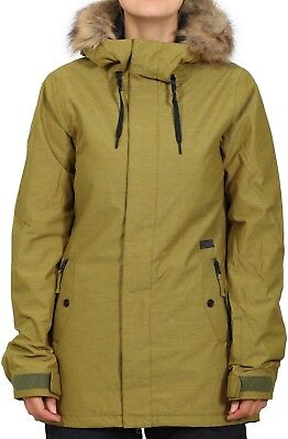 VOLCOM Women's MISSION Insulated Snow Jacket - MOS - Small - NWT  ()