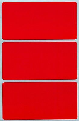 Rectangle Name Tags - Red Color Coding Rectangle Stickers Name Tags Marking Organzing Labels 45 Pack