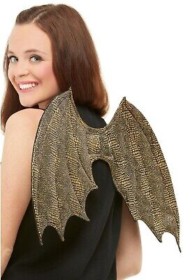 Adults Ladies Mens Dragon Scale Wings Halloween TV Fancy Dress Costume Accessory