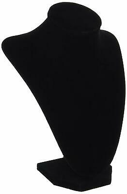 Black Velvet Necklace 9-inch Display Bust Jewelry Stand 3-d Organizer Stand