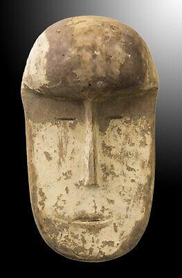 Mask Passport African Lega DRC Wooden 17cm Miniature Art First 16703