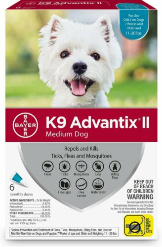 K9 Advantix II Mosquito Prevention for Medium Dogs 11-20 lbs ( 6 Pack )