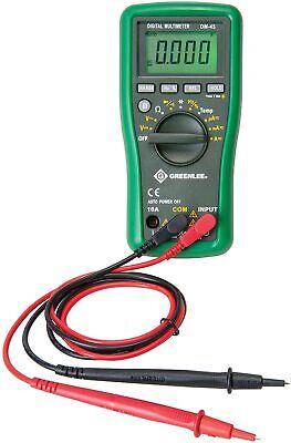 Greenlee Dm-45 Catiii 600v Auto-ranging Digital Multimeter