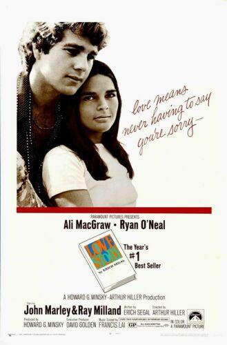 Love Story Movie Poster 27X40 S/S Ali MacGraw Ryan O