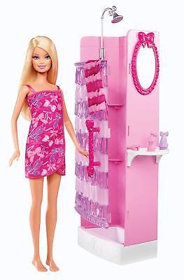 Barbie Glam Shower Playset - Includes Doll, Shower & Bathroom Accessories (Barbie Shower)