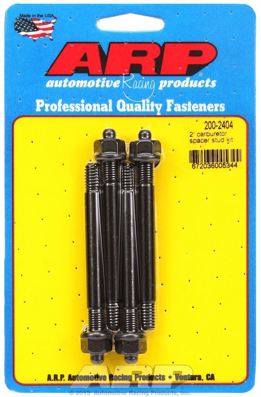 """ARP Bolts 200-2404 2/"""" carburetor spacer stud kit 3.700/"""" OAL"""