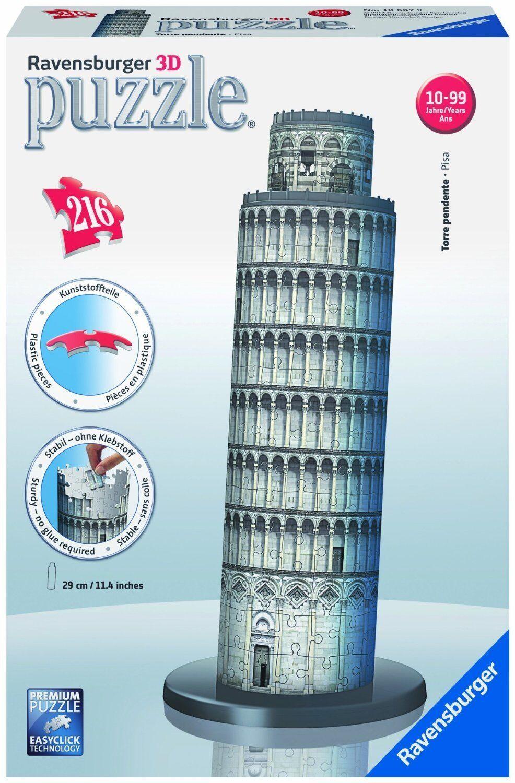 Torre di Pisa Puzzle 3D Building Ravensburger Giocattolo Bambino 12557