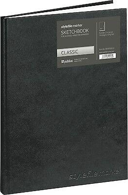 Stylefile Marker Sketchbook Blackbook Buch Din A4 Hochformat