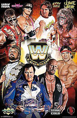 Trends International Wwe Legends Assorted Wrestlers Wall Poster 22 375  X 34