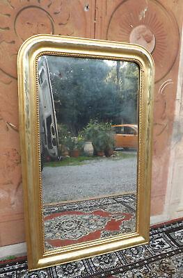 Specchiera specchio epoca Umbertina cornice oro zecchino '800 cm 141,5 x 86,5