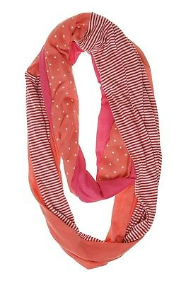 - Scarf Collection XIIX Patched Jersey Infinity Loop Orange Burst Pink $28 - NWT