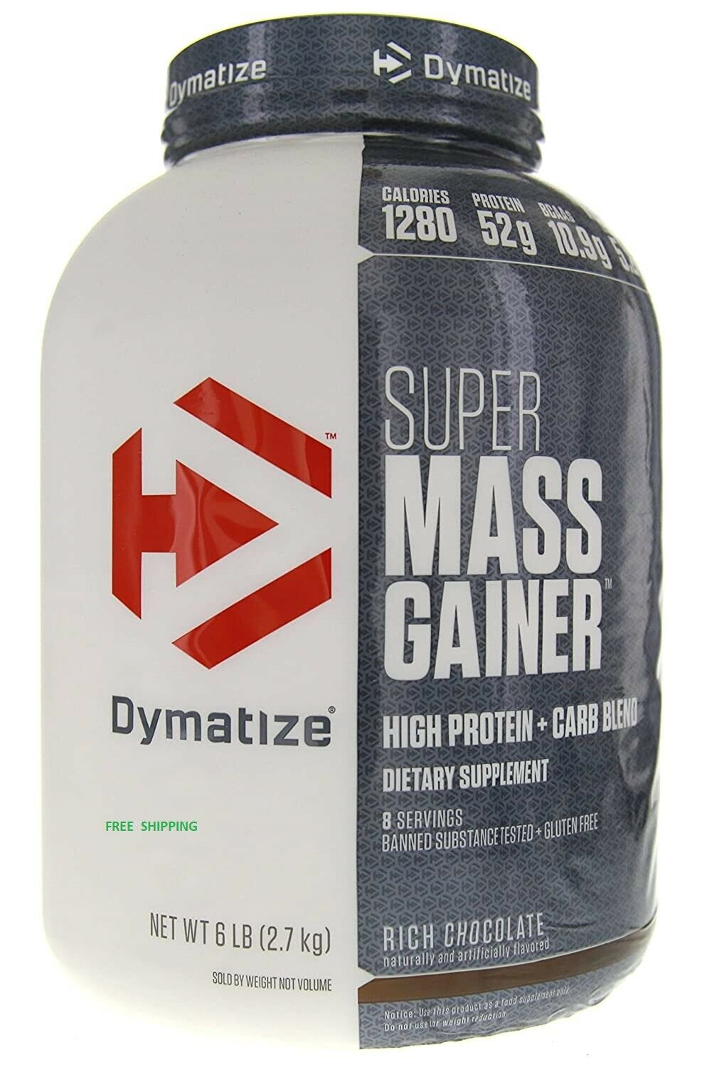 Dymatize Super Mass Gainer Chocolate Protein Powder 6 LBS- F
