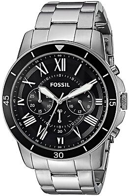 Fossil Men's FS5236 Give Sport Chronograph Stainless Steel Black Dial Watch