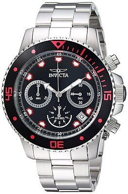 Invicta 21885 Pro Diver Men's 45mm Chronograph Stainless Steel Black Dial Watch