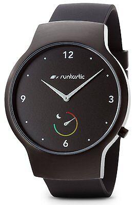 Runtastic Moment BASIC Uhr & Aktivitätstracker mit Silikonband Schwarz