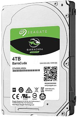 Seagate BarraCuda 4TB ST4000LM024 interne Festplatte 15mm 2,5 Zoll 128MB, SATA3