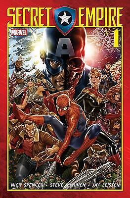 Secret Empire #1 of 9 NM 1st Print WITH CODE Regular Cover 2017 Marvel Spencer