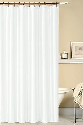 Iris Luxury Fabric Shower Curtain: Shimmering Textured Jacquard White NWOP
