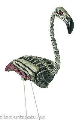 Zombie Lawn Ornaments (ZOMBIE SKELETON FLAMINGO CREEPY LAWN DECORATIVE ORNAMENT HALLOWEEN)