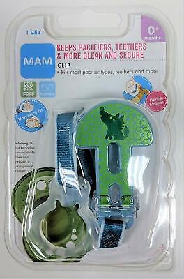 MAM Pacifier Clip for 0+ months Keeps Pacifiers & Teethers Secure Universal NEW