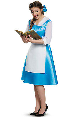 Brand New Disney Beauty and the Beast Belle Blue Dress Tween/Adult Costume](Adult Disney Belle Costume)