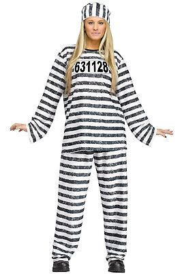Female Inmate Halloween Costumes (Prison Convict Jailhouse Honey Inmate Adult)