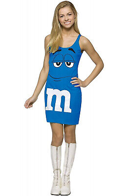 M&M'S Candy Blue Tank Dress Up Outfit Teen Costume - M&m Candy Costume