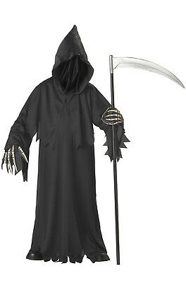 Brand New Grim Reaper Deluxe Scary Child Halloween Costume](Make Grim Reaper Halloween Costume)