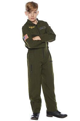 Brand New Airforce Pilot Flight Suit Top Gun Inspired Child Costume Childrens Flight Suit