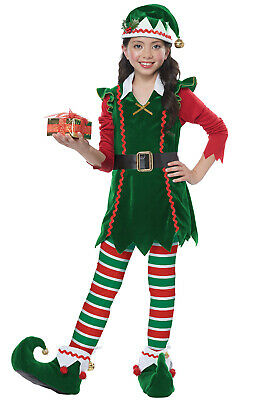 Brand New Santa Festive Elf Christmas Child Costume](Elf Costume)