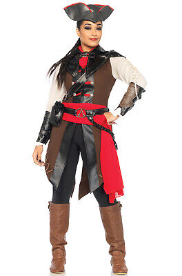 Brand New Assassin's Creed Video Game Women Outfit Aveline Adult Costume