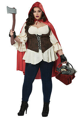 Brand New Ain't Afraid a No Wolf Little Red Riding Hood Plus Size - Little Red Riding Wolf Kostüm