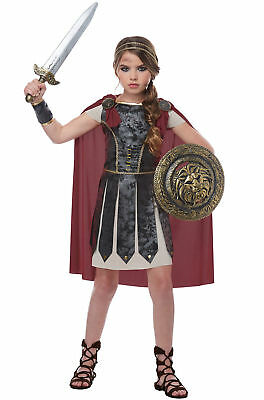Child Roman Greek Fearless Gladiator Spartan Warrior Costume  - Spartan Girl Costume