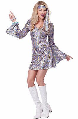 Brand New 70's Disco Dance Sensation Dancing Queen Outfit Adult Costume