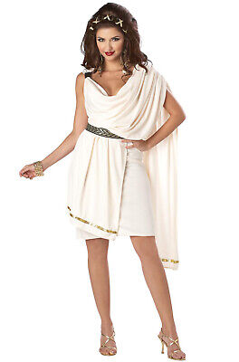 Brand New Sexy Sorority Deluxe Classic Toga Adult Halloween Costume