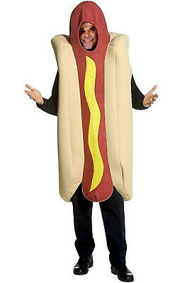 Brand New Deluxe Hot Dog on a Bun Adult Costume