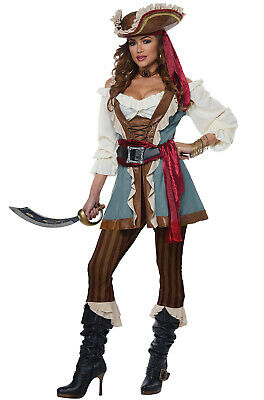 Brand New Jewel of The Sea Pirate Captain Adult Costume