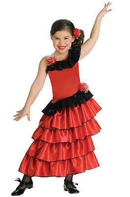 Brand New Spanish Princess Dancer Girls Child Costume