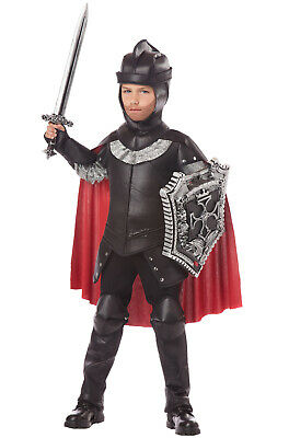 Brand New Black Knight Warrior Medieval Renaissance Child Costume - Black Knight Costumes