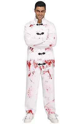Psych Ward Costume (Nutty Gone Wild Man Psych Ward Straight Jacket Scary Adult)
